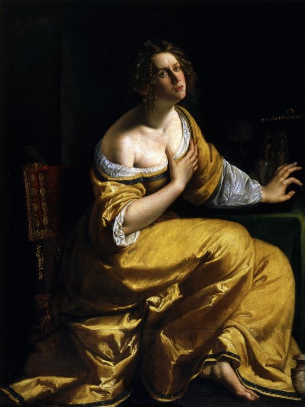 rtemisia Gentileschi, La conversione della Maddalena