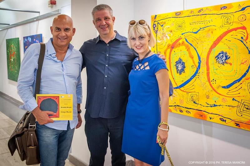Arvedo Arvedi con Erika Gottardi e Massimiliano Piccinno