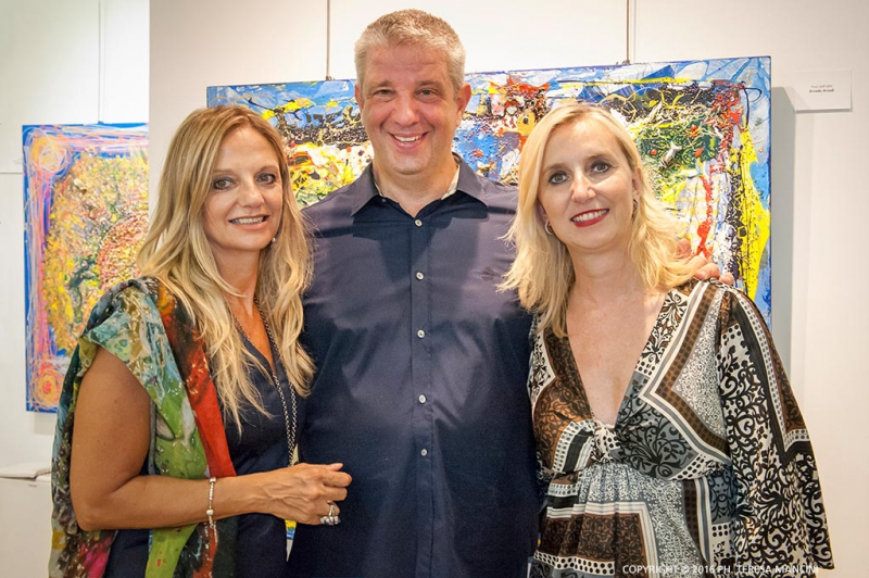 Arvedo Arvedi con Fabiola Cinque e Nicoletta Gandolfi
