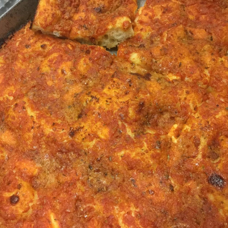 street food sfincione rosso