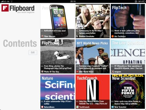 Flipboard – la tua rivista sociale