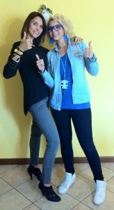 Roberta con la sorella Sara