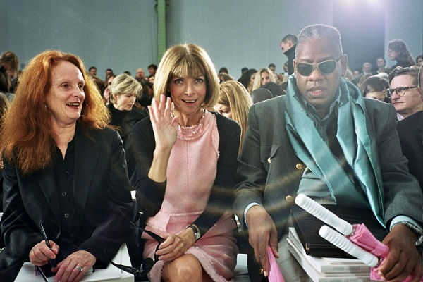 Grace Coddington, Anna Wintour e André Leon Talley - Parigi 7 ottobre 2005