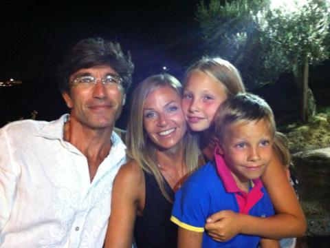 Brando Giorgi con tutta la famiglia