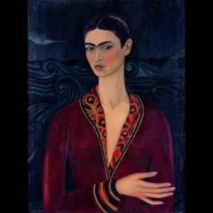 Frida Kahlo, Autoritratto con abito di velluto, 1926 Olio su tela. Collezione privata