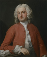 William Hogarth - Ritratto maschile in rosso