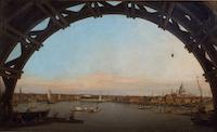 Canaletto - La City di Londra vista attraverso un arco