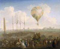 Julius Caesar Ibbetson - L'ascesa della mongolfiera Lun