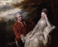 Joshua Reynolds - L'attore Garrick con la moglie Eva