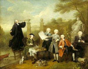 William Hogarth - Ritratto di gruppo con Lord John Herv