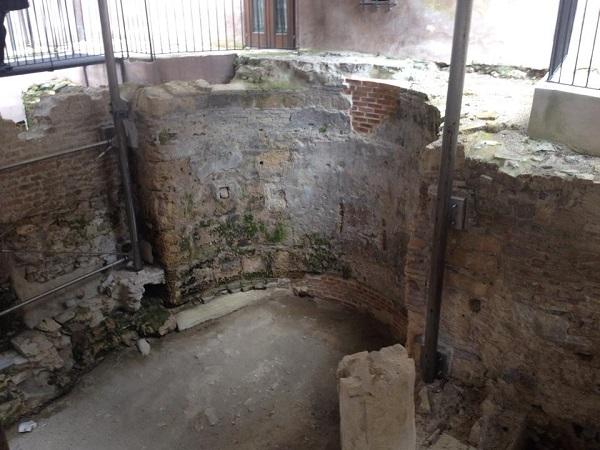 I resti della chiesa paleocristiana