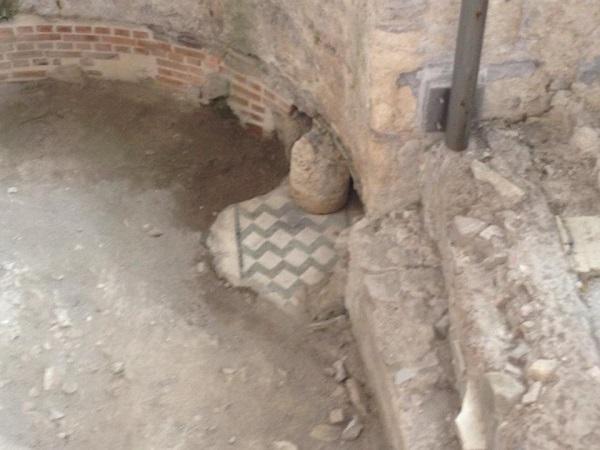 Resti del pavimento della villa romana