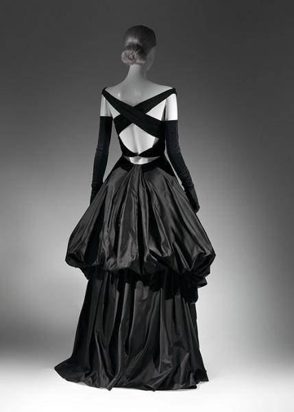 Charles James Black Evening Dress 1948