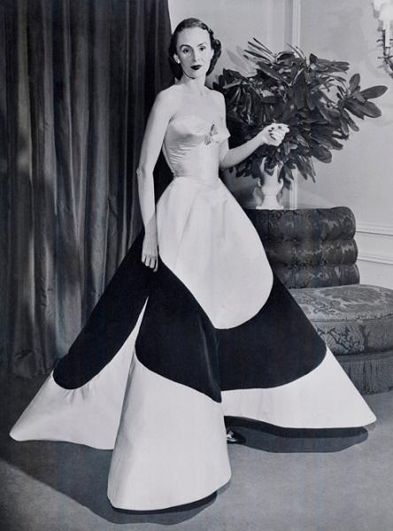 Austine Hearst Clover Leaf Gownca 1953