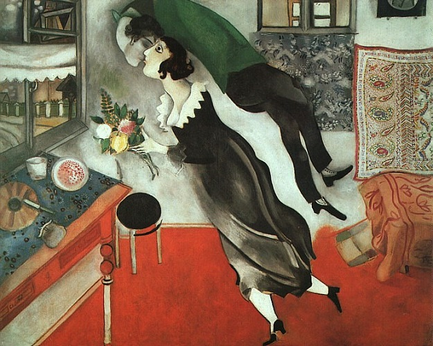 M. Chagall, il compleanno 1915 (MoMA-The Mus of Modern Art, NY)