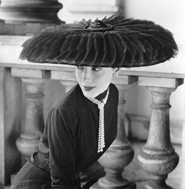 Legroux Soeurs Hat, Vogue 1952
