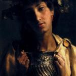 14 - Sir Lawrence Alma-Tadema, giovane con caraffa vino - partic.