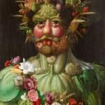 19 - Arcimboldo, Rodolfo2 come Vertumno-stagioni, c. 1590-1, SkoklosterCastle,Svezia