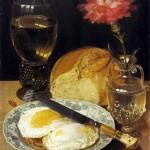22 - Georg Flegel, Natura morta con vino e uova
