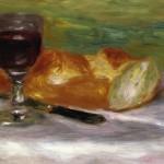 37 - Pierre Auguste Renoir, Bicchiere di vino e pane, 1908