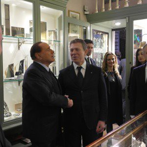 alta moda pampaloni Berlusconi con Anatriello all'Opening PAMPALONI di AltaRoma