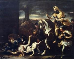 Luca Giordano - Jezabel divorata dai cani