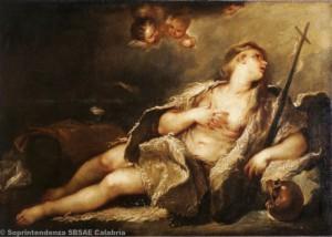 Luca Giordano - Maddalena col crocifisso