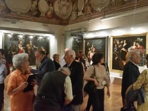 Sala dedicata alle grandi tele del '600 e alla diffusione delle storie ariostesche in Francia