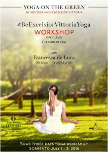 Grand Hotel Excelsior Vittoria Yoga on the green