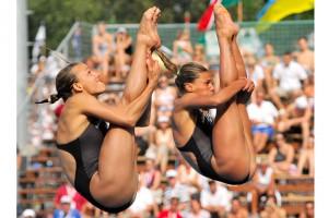 Tania Cagnotto e Francesca Dellapè, medaglia d'argento nella finale Trampolino 3 m sincro femminile