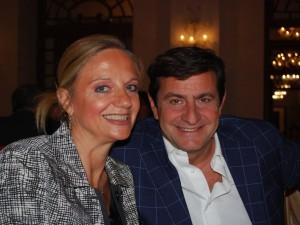 Il Direttore Fabiola Cinque e Andrea Rastelli, Editore di MyWhere alla Serata di Gala