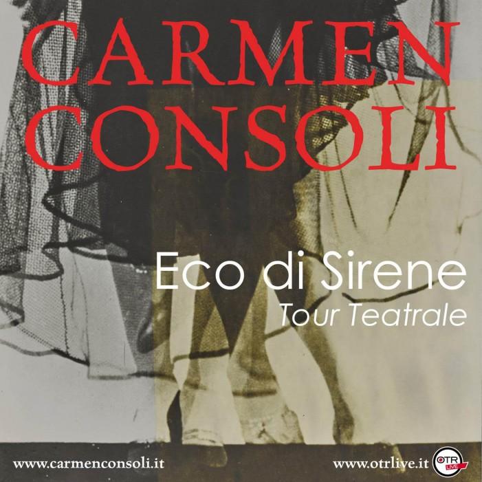 Carmen Consoli raddoppia il suo appuntamento a teatro