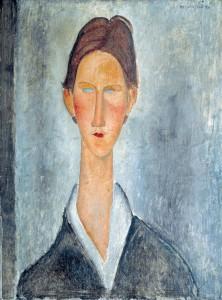 Amedeo Modigliani Giovane con i capelli rossi o Lo studente, 1919 Olio su tela, 61 x 46 cm Courtesy Richard Delh. K.A.D. Gallery - Bruxelles
