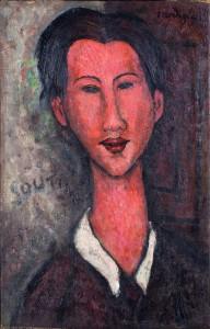 Amedeo Modigliani Ritratto di Chaim Soutine, 1917 Olio su tela, 55,5 x 35 cm Collezione privata