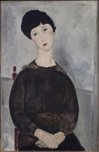 Amedeo Modigliani Ragazza con capelli neri, detta anche Ragazza bruna seduta, 1918 Olio su tela, 92 x 60 cm Parigi, Musée National Ricasso © René-Gabriel Ojéda / RMN-Réunion des Musées Nationaux/ distr. Alinari