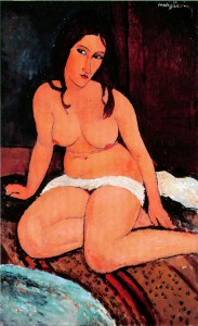 Amedeo Modigliani Nudo accovacciato, 1917 Olio su tela, 114,5 x 71,5 cm Anversa, Koninklijk Museum voor Schone Kunsten KMSKA © Lukas – Art in Flanders vzw, foto Hugo Maertens
