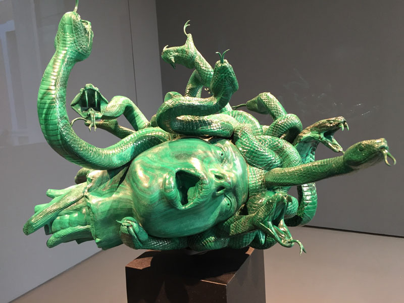 30 The Severed Head of Medusa, Malachite, Palazzo Grassi