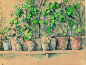 Paul Cézanne Les pots de fleurs