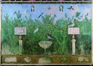 Peinture de jardin Pompéi