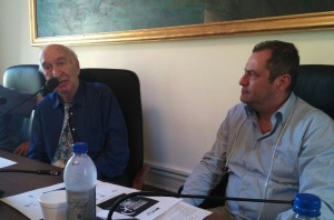 Il Sindaco Roberto De Donatis con Giuliano Montaldo