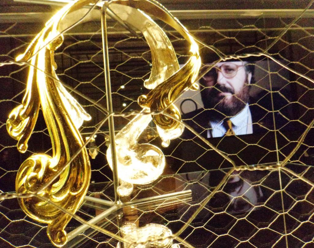 Collana Barocca, realizzata da Rossana Buriassi per Gianfranco Ferre', ottone dorato. Foto Bianca Cappello