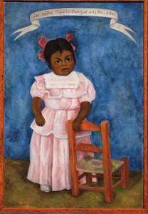 La niña Lupita Cruz a los 3 años, 1954 Óleo sobre tela 119 x 80 cm Colección particular en comodato, Museo Nacional de Arte