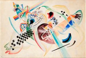 Wassily Kandinsky, Su bianco (I), olio su tela, 1920.©State Russian Museum, St. Petersburg