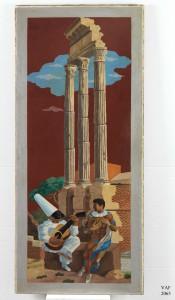 Gino Severini La leçon de musique, 1928-29 Olio su tela, 160,5x71,5 Mart, Museo d'arte moderna e contemporanea di Trento e Rovereto, collezione VAF-Stiftung