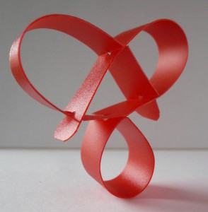 Roberto Zanon, Anello Ribbon Love, pvc, 2010