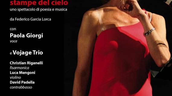 Beneficenza e grande teatro con Stampe del cielo di Garcia Lorca