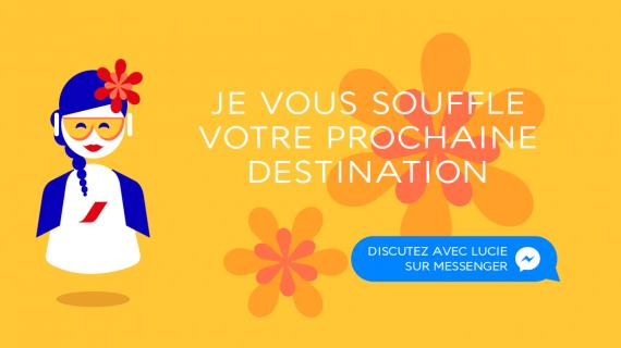 Air France presenta LUCIE, la chatbot ispirazionale
