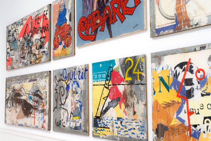 Mimmo Rotella e i suoi manifesti, décollages e retro d'affiches in mostra