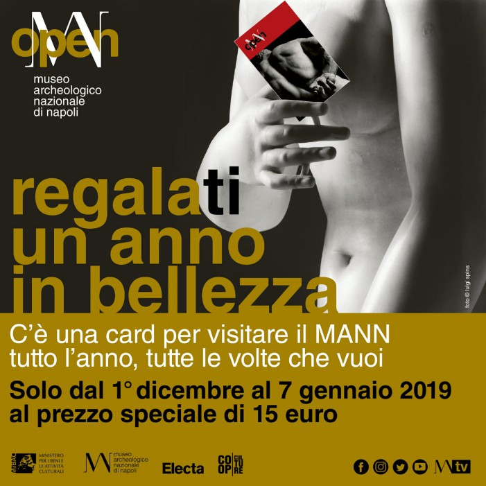 Regala un anno all'insegna dell'arte con CARD OPEN MANN