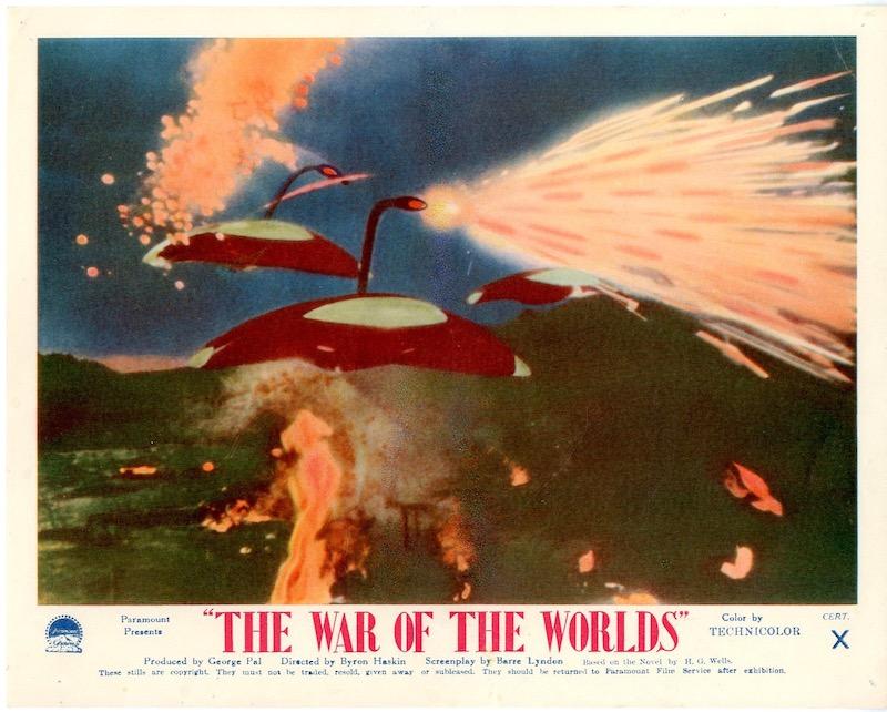 "Locandina originale de "" La guerra dei mondi"" (USA, 1953) regia di Byron Haskin"